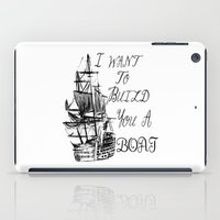 larry stylinson iPad Cases featuring I want to build you a boat. Harry Styles. Tattoo. (Larry Stylinson) by Arabella