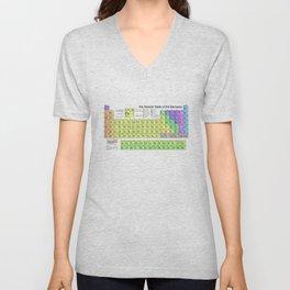 Periodic Table of Elements Chart Unisex V-Neck
