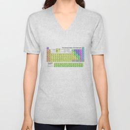 Periodic Table of Elements Chart Unisex V-Neck