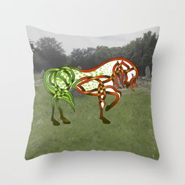 Celtic Knot Horse Throw Pillow