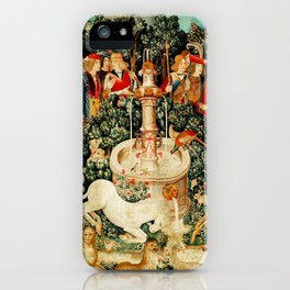 Hunt Of The Unicorn Medieval Tapestry iPhone Case