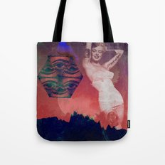 False Colored Eyes Tote Bag