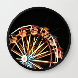 Ferris Wheel + County Fair Wall Clock