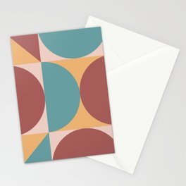 Mid Century Modern Geometric Abstract 232 Stationery Cards