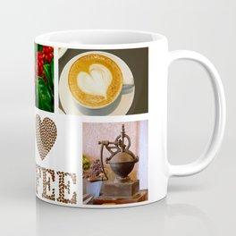 I Love Coffee Collage - Cafe or Kitchen Decor Coffee Mug