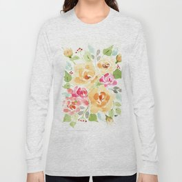 Suede Roses Long Sleeve T-shirt