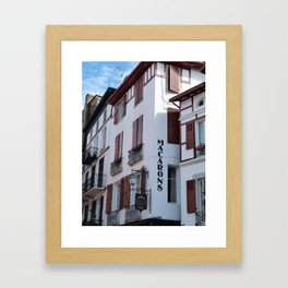 Basque patisserie Framed Art Print