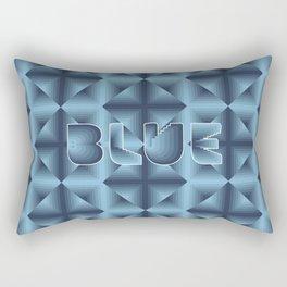 Blue diamond pattern on neon grid Rectangular Pillow