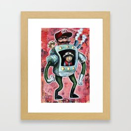 It's Mario Time Framed Art Print
