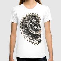fibonacci T-shirts featuring Fibonacci Swirl  by Vixxen