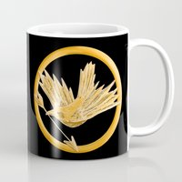 mockingjay Mugs featuring Mockingjay by AriesNamarie
