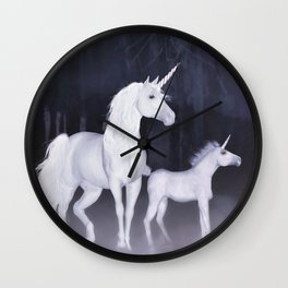 FANTASY - Unicorns Wall Clock