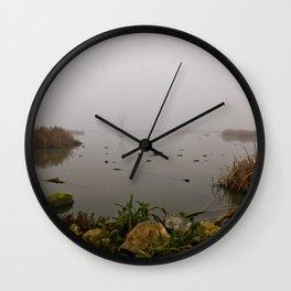 stone, water & fog Wall Clock