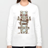 totem Long Sleeve T-shirts featuring Totem by tipa graphic