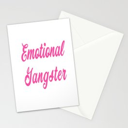 Emotional Gangster Stationery Cards