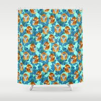 arctic monkeys Shower Curtains featuring Monkeys by Vera & the Birds