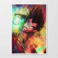 vegeta Canvas Prints featuring Vegeta by Andre Beja