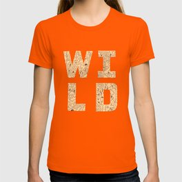 """Wild"" Type with Topography Map (rust) T-shirt"