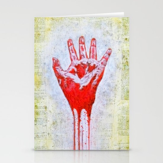 """The Red Hand"" Stationery Cards"