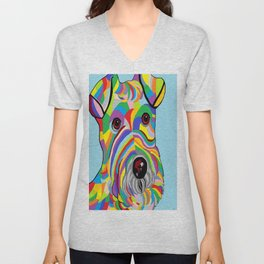 Wire Fox Terrier Unisex V-Neck