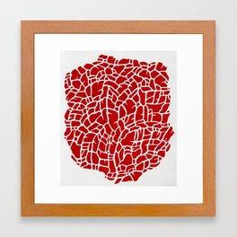 Riff on Red Framed Art Print