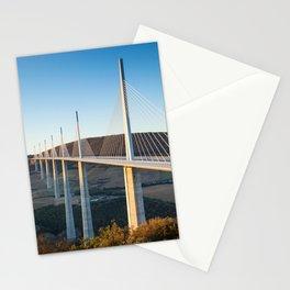 Millau Viaduct at Sunrise, Midi-Pyrenees, France Stationery Cards