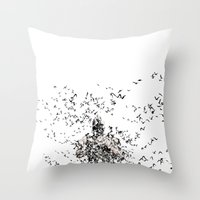 bane Throw Pillows featuring Bane by justjeff