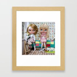 BLYTHE DOLL OLI AND MEGAN ERREGIRO Framed Art Print