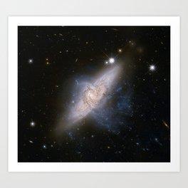 Overlapping galaxies NGC 3314 Art Print