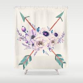 Floral Arrows Shower Curtain