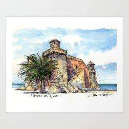 Hemingway's Cuba:  Fortress at Cojimar Art Print