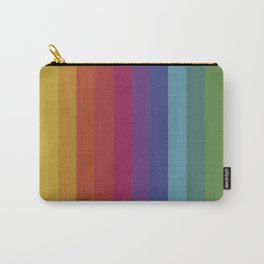The Color Wheel / Rainbow Stripes Carry-All Pouch