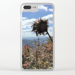 Parkway Macro Mountains Clear iPhone Case