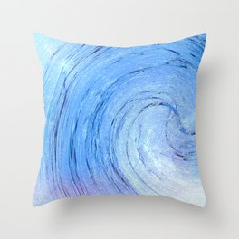 Ice Spiral Throw Pillow