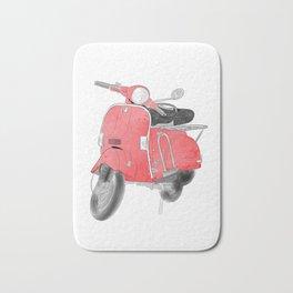 Red moto Bath Mat