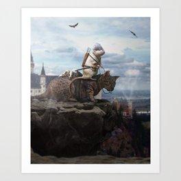 The Dragon Hunter Art Print