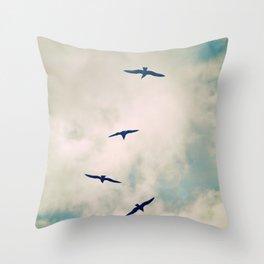 Bird Dance. Throw Pillow