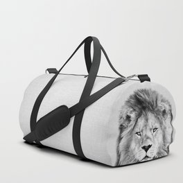 Lion 2 - Black & White Duffle Bag