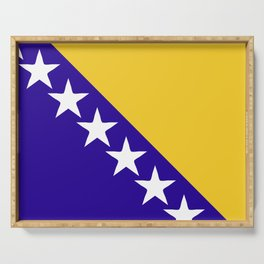 Bosnia and Herzegovina flag emblem Serving Tray