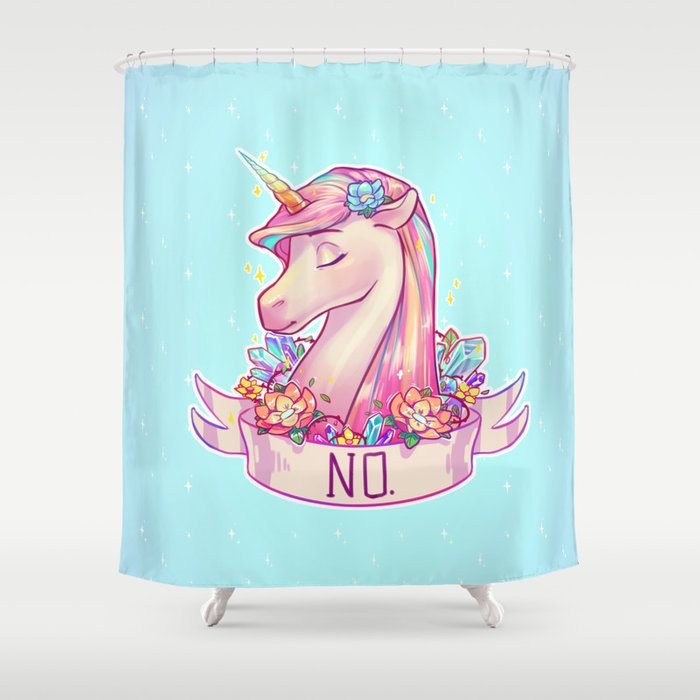 Unicorn Shower Curtain By Ribkadory