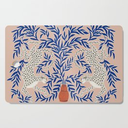 Leopard Vase Cutting Board