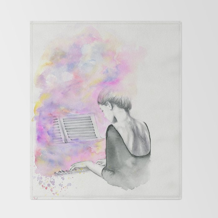 The Unwritten Song Throw Blanket