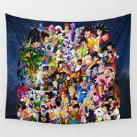dragonball Wall Tapestries featuring DragonBall Z - Insane amount of Characters by Mr. Stonebanks