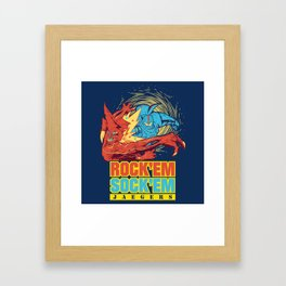 Rock'em Sock'em Jaegers Framed Art Print