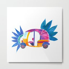 Groovy Rickshaw Metal Print