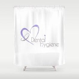 I (heart) Dental Hygiene Shower Curtain
