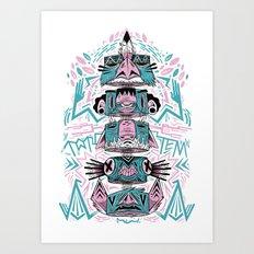 Toto-Tem Art Print