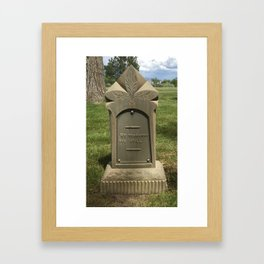 We Remember You Still Framed Art Print