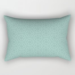 Going Round and Round - Mint Rectangular Pillow