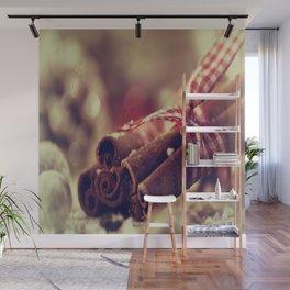 Cinnamon and almond scent for Christmas Wall Mural